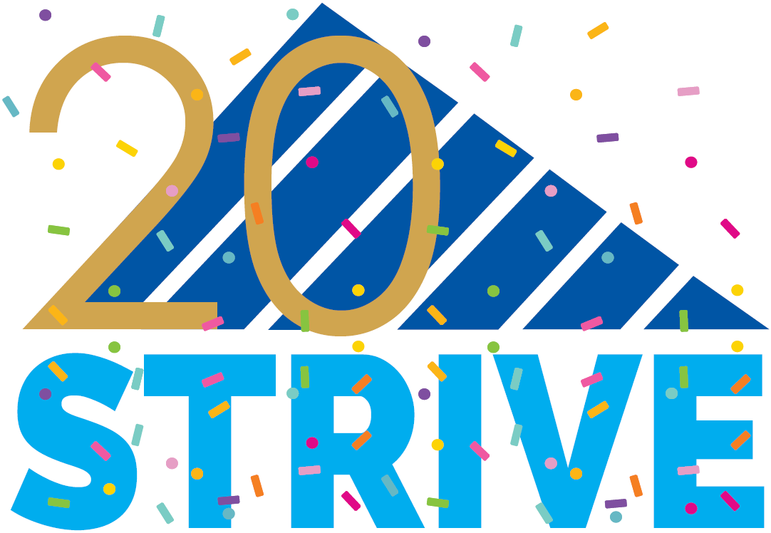 STRIVE 20th Anniversary logo